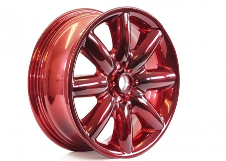 Ruby Red with a Nickel Chrome Base
