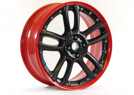 Red Rim with Satin Black Centre