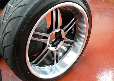 Nissan Race Car Polished Wheel