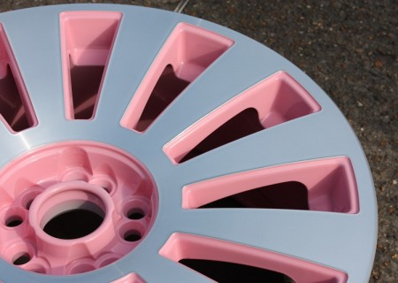 Diamond Cut & Pink wheel