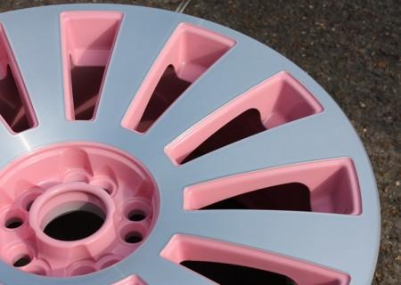 Diamond Cut & Pink wheel