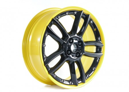 Yellow Rim with Black Gloss Centre