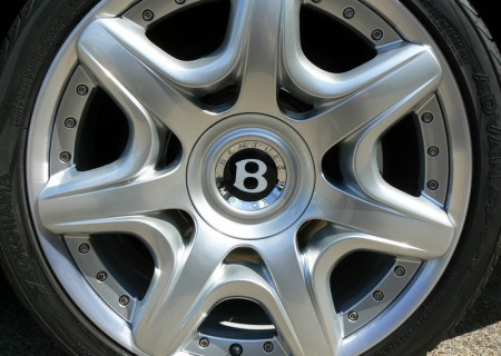 Bentley wheel after refurbishment